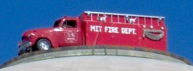 A closer view of the firetruck