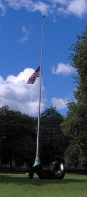 Flag at Half Mast in Killian Court